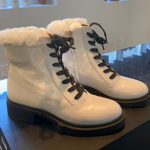Coach White Boots